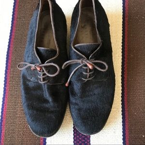 Barney's hide hair loafers